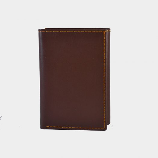 trifold wallet brown