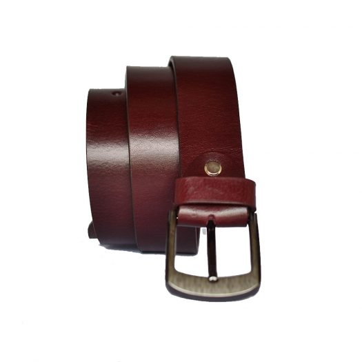 burgundy leather belt
