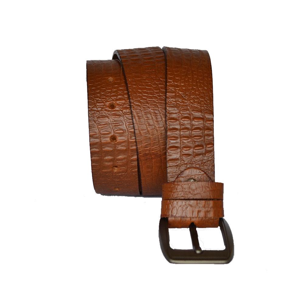 crocodile style belt brown