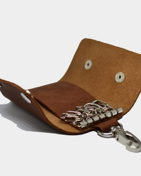 Open edge keyring pouch