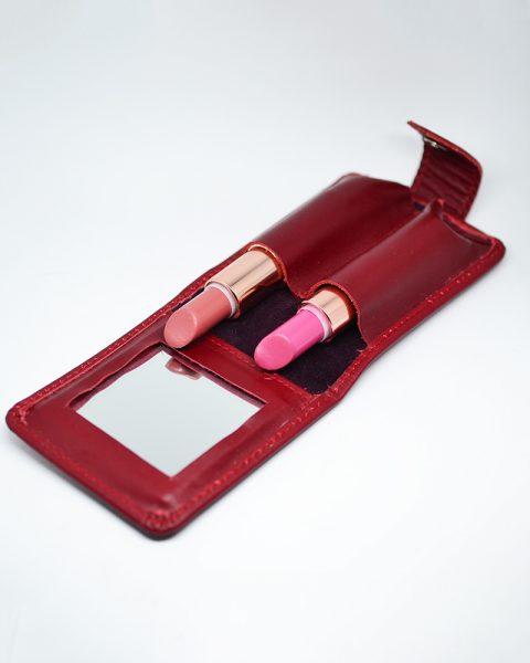 Lipstick case maroon
