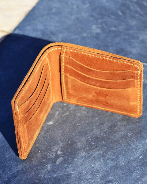 dollar size open edge wallet