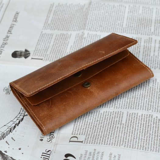 Crazy Horse long wallet light Brown