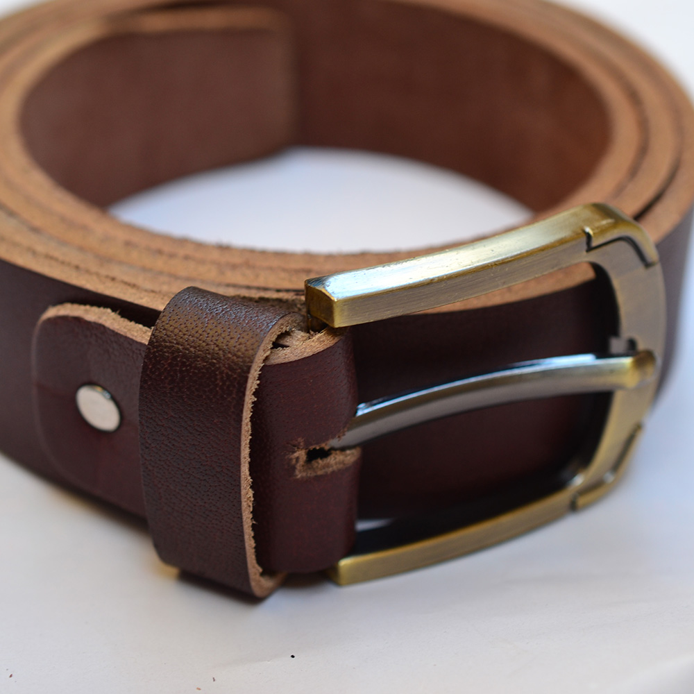 Premium Leather Belt 40mm - Brown - DAB Leather Accessories
