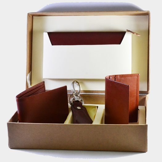 4 pcs leather gift set