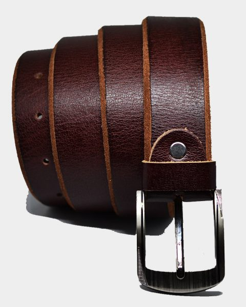 Premium leather belts waxed edges