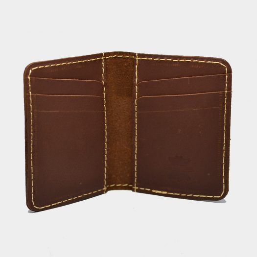 open edge card cover dark brown