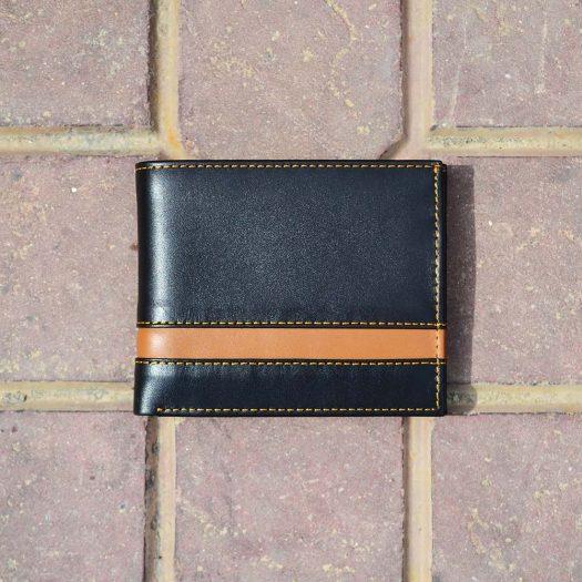 Bifold narrow strip black/brown
