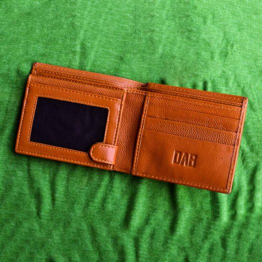 multifold milled wallet brown