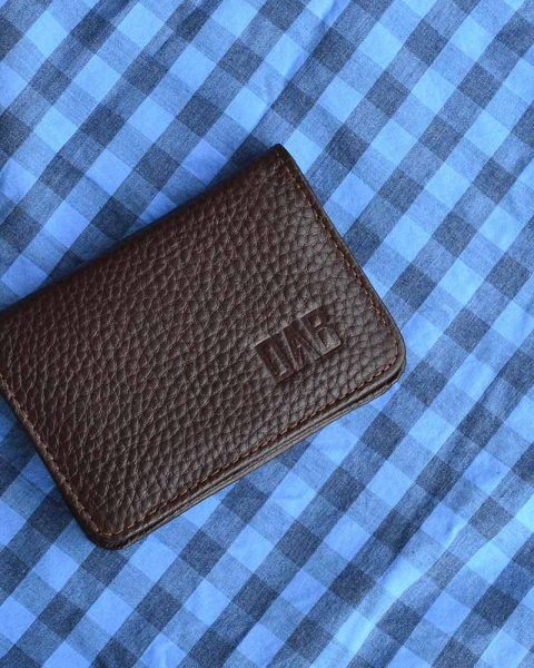 50 cards holder brown