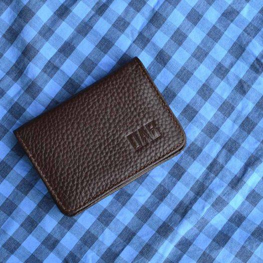50 cards holder brown