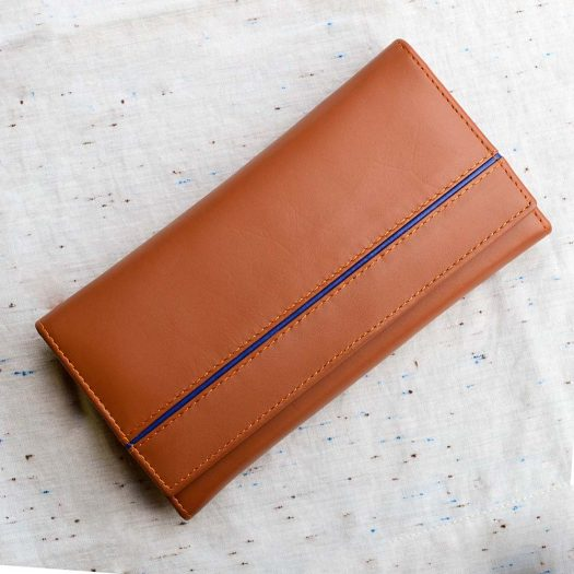 Billfold wallet with frame brown