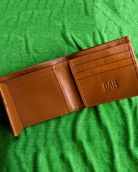 multi-fold plain wallet brown