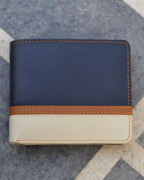 Bifold Wallet With Bottom Double Strip – white