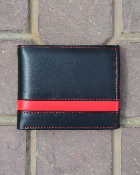 Bifold narrow strip black/red