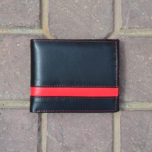 Bifold narrow strip black/red