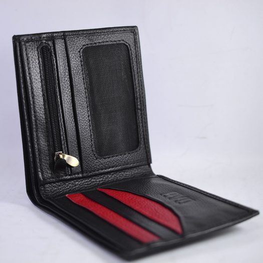 Bifold milled wallet - black/red