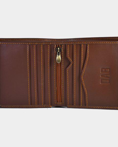 dollar size plain wallet brown