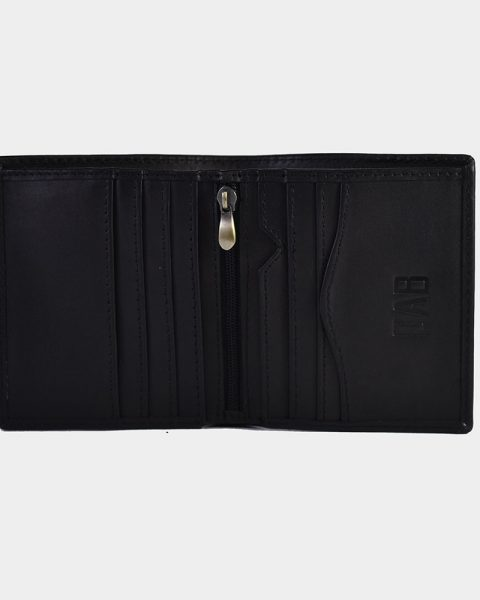 dollar size plain wallet black