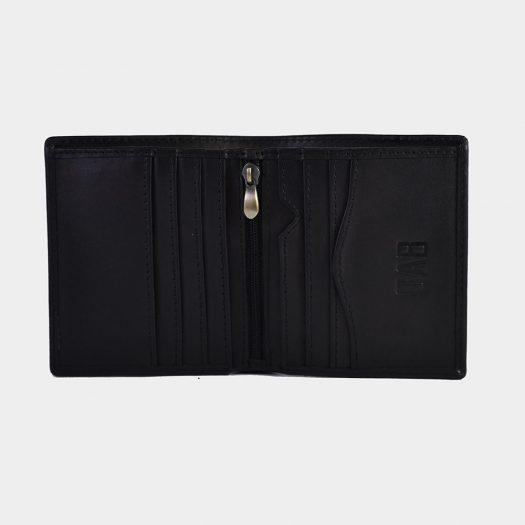 dollar size plain wallet black