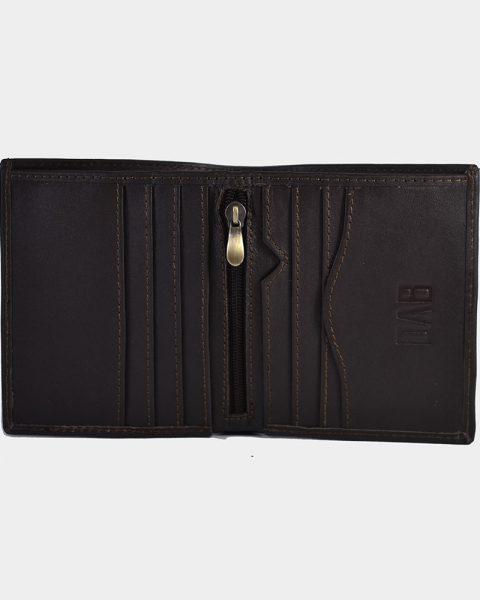 dollar size plain wallet dark brown