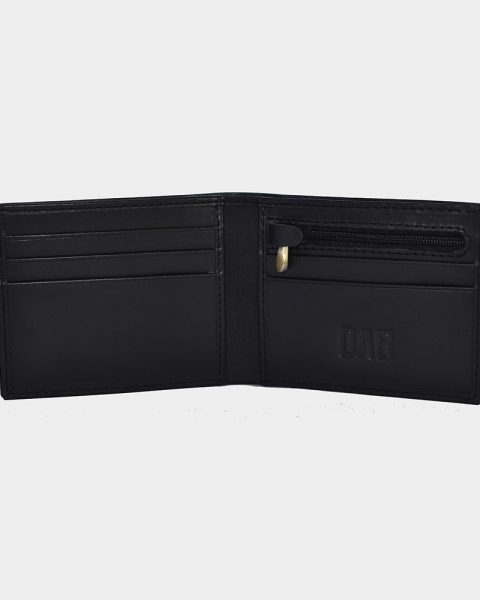 Black dollar size plain wallet