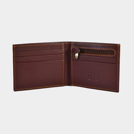 brown dollar size plain wallet
