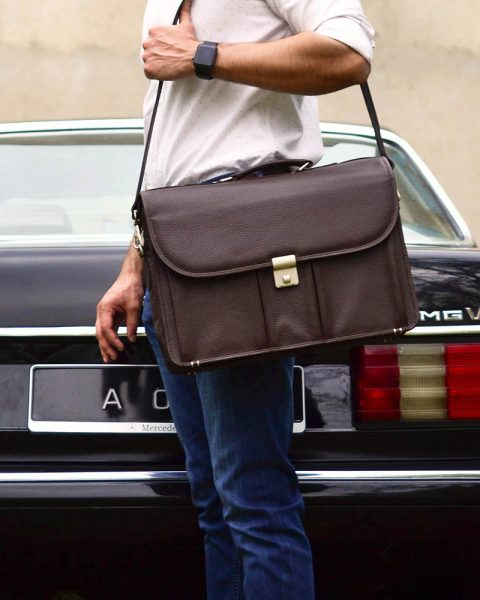 Laptop Messenger Bag – Brown