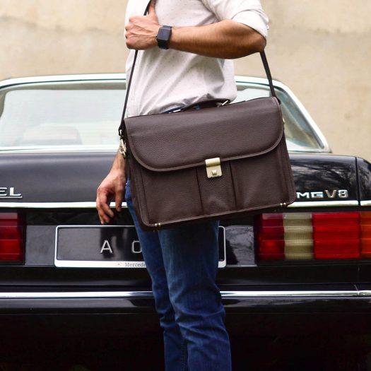 Laptop Messenger Bag - Brown