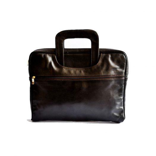 Minimalist laptop bag brown