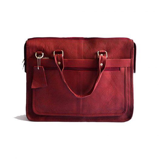 Executive laptop bag red