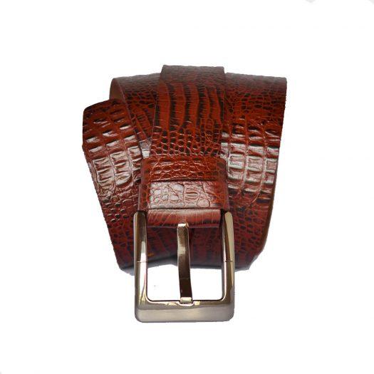 crocodile style belt maroon