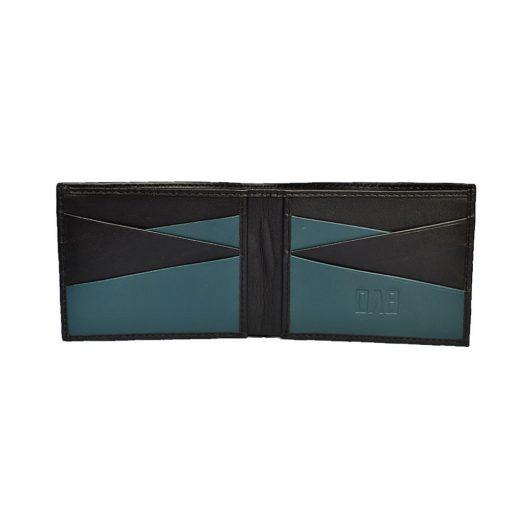bifold wallet teal