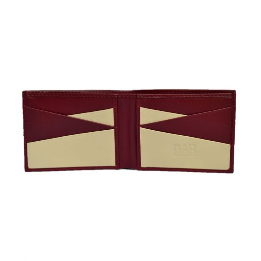 Bifold wallet diagonal maroon