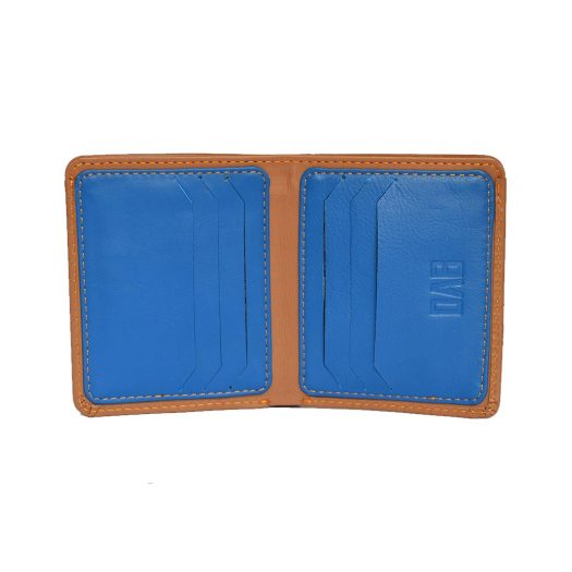 Brown compact wallet