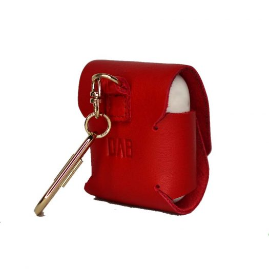 Red airpods leather case