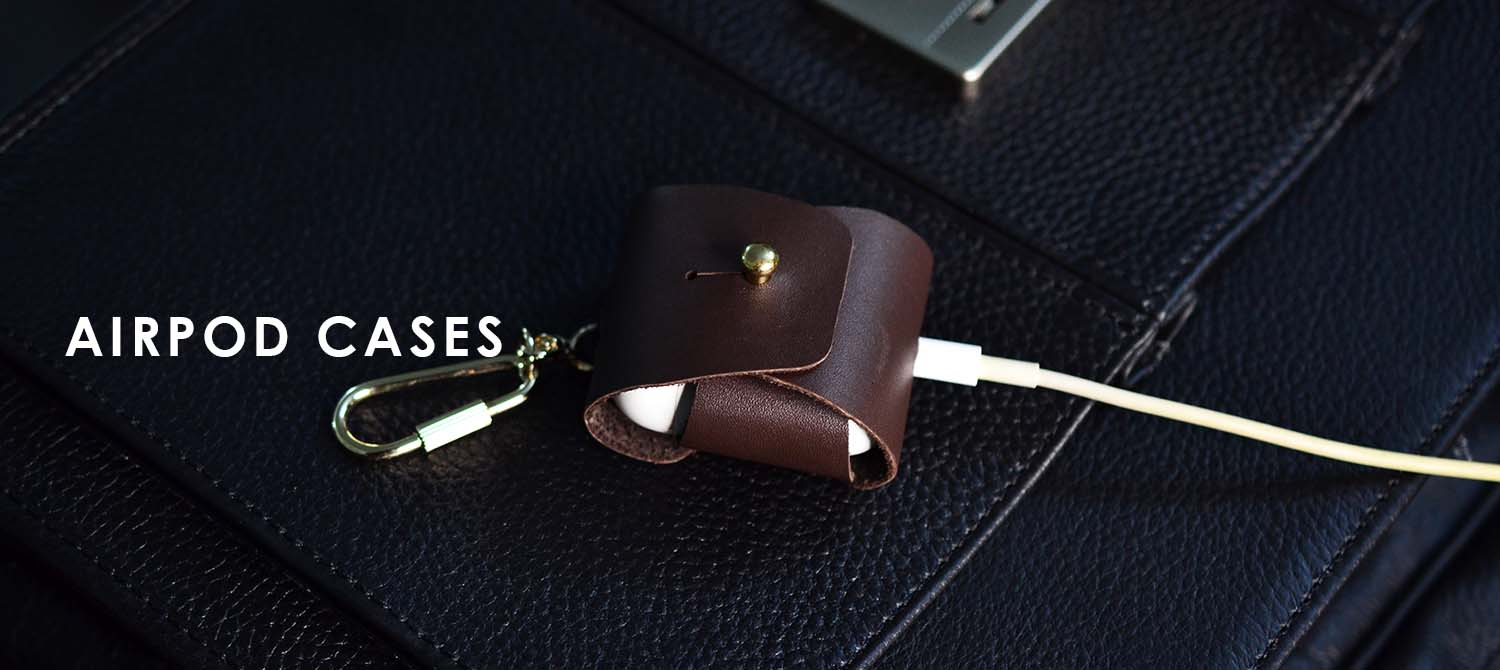 leather airpod cases